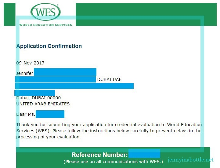 World Education Services Instruction
