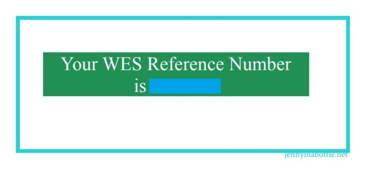World Education Services Reference Number